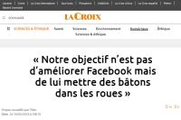 [LaCroix] « Notre objectif n'est pas d'améliorer Facebook mais de lui mettre des bâtons dans les roues »