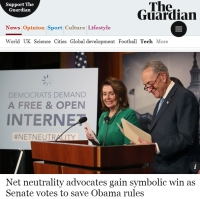 [TheGuardian] Net neutrality advocates gain symbolic win as Senate votes to save Obama rules