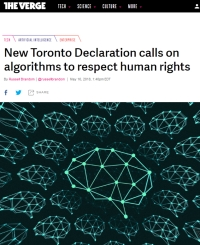 [TheVerge] New Toronto Declaration calls on algorithms to respect human rights