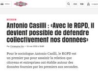 [Liberation] Antonio Casilli : «Avec le RGPD, il devient possible de défendre collectivement nos données»