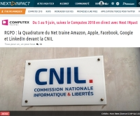 [NextINpact] RGPD: la Quadrature du Net traine Amazon, Apple, Facebook, Google et LinkedIn devant la CNIL