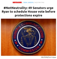 [BoingBoing] #NetNeutrality: 49 Senators urge Ryan to schedule House vote before protections expire