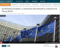 [NextINpact] Au Parlement européen, la commission Libe demande la suspension du Privacy Shield