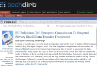 [TechDirt] EU Politicians Tell European Commission To Suspend Privacy Shield Data Transfer Framework