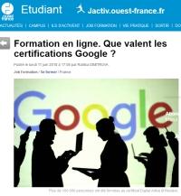 [OuestFrance] Que valent les certifications Google?
