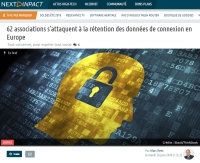 [NextINpact] 62 associations s'attaquent à la rétention des données de connexion en Europe