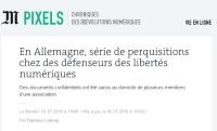 [LeMonde] En Allemagne, série de perquisitions chez des défenseurs des libertés numériques