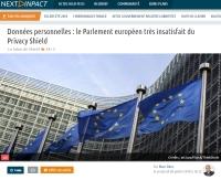 [NextINpact] Données personnelles : le Parlement européen très insatisfait du Privacy Shield