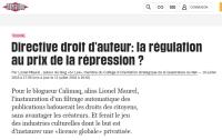 [Liberation] Directive droit d'auteur: la régulation au prix de la répression ?