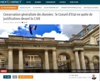 [NextINpact] Conservation généralisée des données : le Conseil d'Etat en quête de justifications devant la CJUE