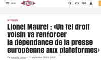 [Liberation] Lionel Maurel : « Un tel droit voisin va renforcer la dépendance de la presse européenne aux plateformes »