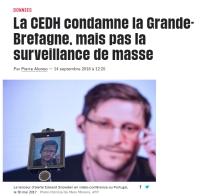 [Liberation] La CEDH condamne la Grande-Bretagne, mais pas la surveillance de masse
