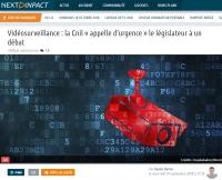 [NextINpact] Vidéosurveillance : la Cnil « appelle d'urgence » le législateur à un débat