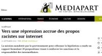 [Mediapart] Vers une répression accrue des propos racistes sur internet