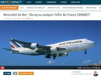 Neutralité du Net&nbsp: l'Arcep va analyser l'offre Air France CONNECT