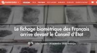 [Numerama] Le fichage biométrique des Français arrive devant le Conseil d'État