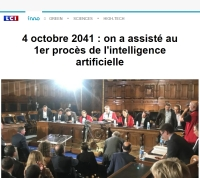 [LCI] 4 octobre 2041 : on a assisté au 1er procès de l'intelligence artificielle