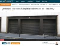 [NextINpact] Données de connexion&nbsp: Hadopi toujours menacée par l'arrêt Tele2