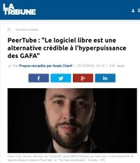 [LaTribune] PeerTube: «Le logiciel libre est une alternative crédible à l'hyperpuissance des GAFA»