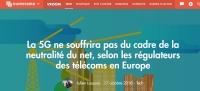 [Numerama] La 5G ne souffrira pas du cadre de la neutralité du net, selon les régulateurs des télécoms en Europe