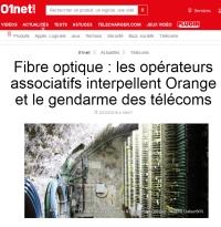 [01net] Fibre optique : les opérateurs associatifs interpellent Orange et le gendarme des télécoms