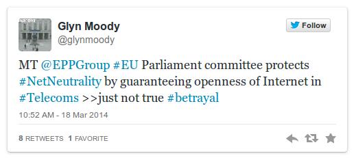 Glyn Moody Tweet