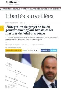 [LeMonde] L'intégralité du projet de loi du gouvernement pour banaliser les mesures de l'état d'urgence
