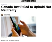 [MotherboardVice] Canada Just Ruled to Uphold Net Neutrality