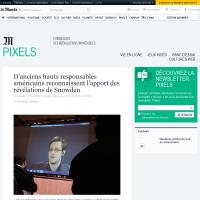 [Le Monde] D'anciens hauts responsables américains reconnaissent l'apport des révélations de Snowden
