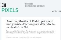 [LeMonde] Amazon, Mozilla et Reddit prévoient une journée d'action pour défendre la neutralité du Net