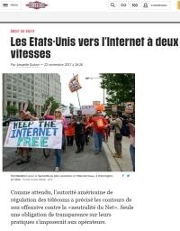 [Liberation] Les Etats-Unis vers l'Internet à deux vitesses