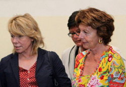 Pilar Del Castillo Vera and Neelie Kroes