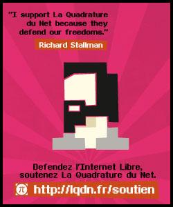 Richard Stallman soutient La Quadrature du Net, et vous?