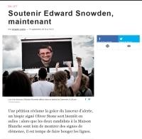 Soutenir Edward Snowden, maintenant
