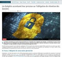[NextInpact] Les Exégètes accentuent leur pression sur l'obligation de rétention des données