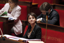 Najat Vallaud-Belkacem à l'Assemblée nationale