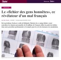 [Slate] Le « fichier des gens honnêtes », ce révélateur d'un mal français