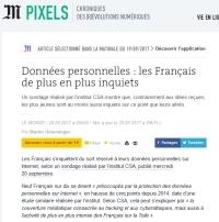 [LeMonde] Données personnelles : les Français de plus en plus inquiets