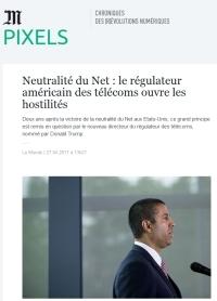 [LeMonde] Neutralité du Net : le régulateur américain des télécoms ouvre les hostilités
