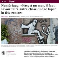 [Slate] Numérique: «Face à un mur, il faut savoir faire autre chose que se taper la tête contre»