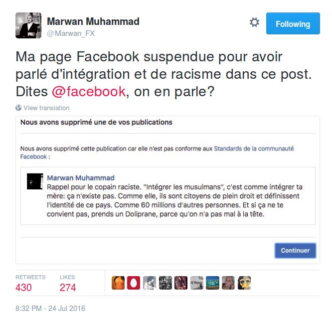 Censure Marwan Muhammad