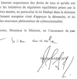 Signature lettre