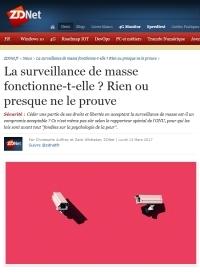[ZDNet] La surveillance de masse fonctionne-t-elle ? Rien ou presque ne le prouve