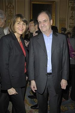 Christine Albanel et Pierre Lescure