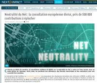 [NextINpact] Neutralité du Net : la consultation européenne divise, près de 500 000 contributions à éplucher