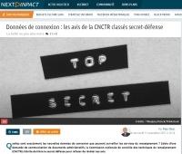 [NextINpact] Données de connexion : les avis de la CNCTR classés secret-défense