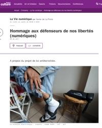 [FranceCulture] Hommage aux défenseurs de nos libertés (numériques)