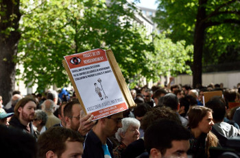Demonstration of 13 April 2015 against the Surveillance bill