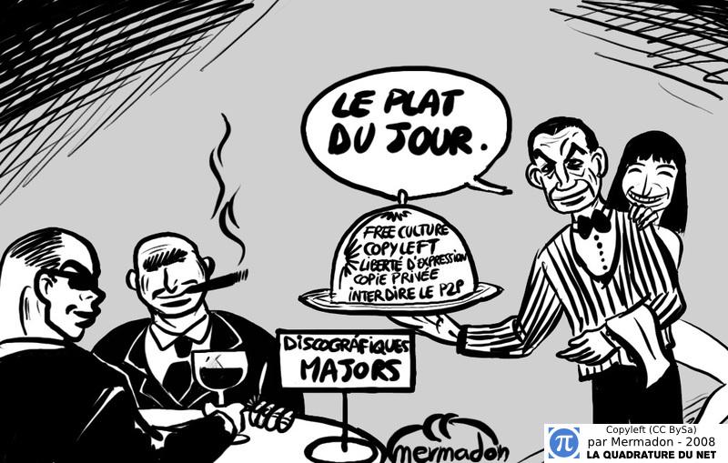 «Sarkozy & Carla» by Mermadon - Copyleft (CC BySa)