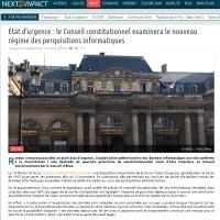 État d'urgence : le Conseil constitutionnel examinera le nouveau régime des perquisitions informatiques